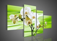 handpainted 4 piece purple contemporary decorative oil paintings on canvas wall art flower pictures for living room home decor02