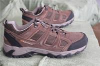 Deep khaki karri walking shoes plus size male hiking shoes waterproof outdoor shoes low