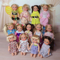 2014 New arrival wholesales 50pcs/slot  dress cloth for 1/12 bjd mini simba doll for kelly barbie doll