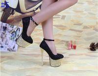 2014 fashion women's pumps 16cm high heels platform party dance shoes ladies women's shoes wedding high heels free shipping
