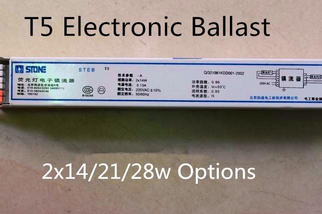 Prix de gros, lampe fluorescente t5/neon lampe ballast électronique 2x14w 21w 28w facultatifprix