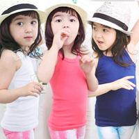 2014 summer brief girls clothing baby child spaghetti strap vest tx-0773