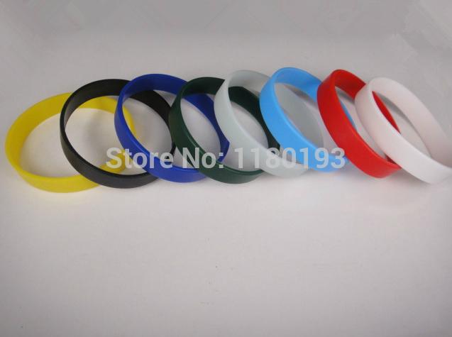 Silicone bracelet --- no word blank wristbands / 8 colour(China (Mainland))
