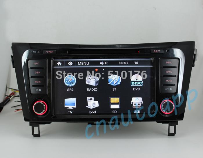 Car Navigation In-Dash GPS With DVD Player Radio For NISSAN QASHQAI XTRAIL 2014(China (Mainland))