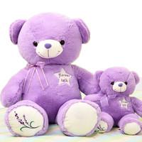Lavender bear doll plush toy doll birthday gift free shipping birthday present