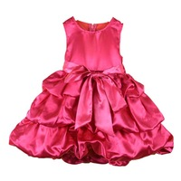 Wholesale 5pcs/lot birthday dresses for girls retail FREE SHIPPING,NEW,2014 girl dress Big bowknot dresse for summer 4 colors