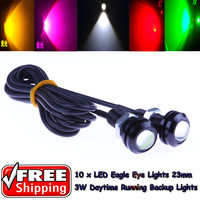 10 x LED Eagle Eye Lights 18mm  Daytime Running Tail Backup Turn Signal Corner Stop Parking Tail Reverse Lights