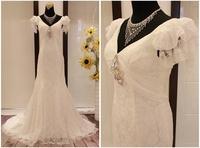 The bride wedding dress lace slim package hip slim bandage white elegant gentlewomen
