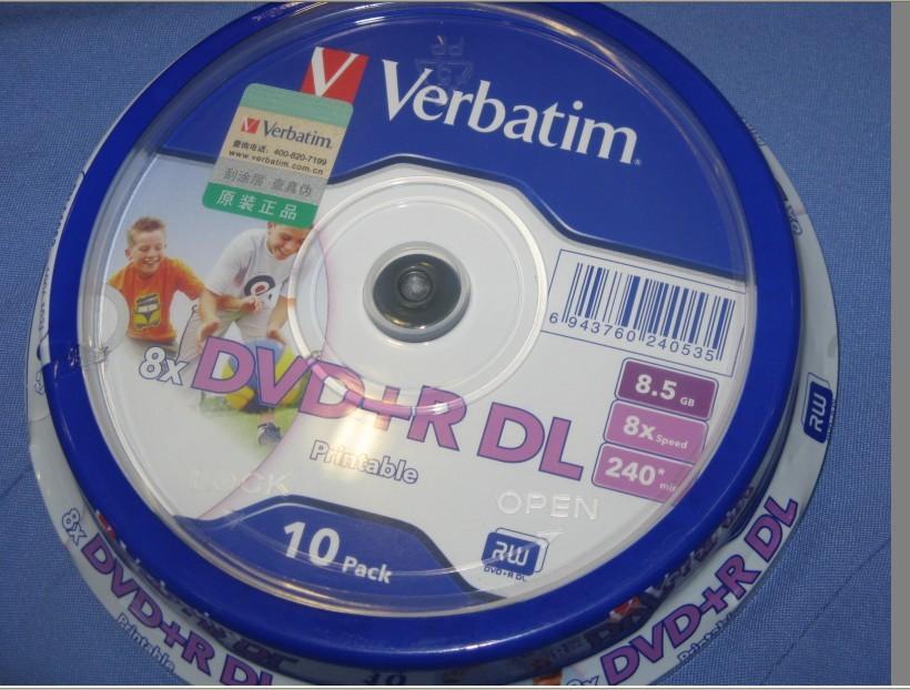 10 pack Verbatim balnk printable DVD+R DL 8X Dual Layer 10 Discs DVD +R dl 8.5GB(China (Mainland))