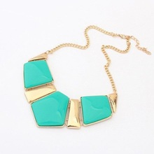 Necklace Fashion Alloy Luxury Party collier Necklace Women Short Necklaces Pendants 2015 New Accessories Jewelry