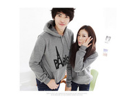 2014 Hot sale lovers Hoodies and Sweatshirts autumn  lovers casual with a hood sport jacket men's coat  28