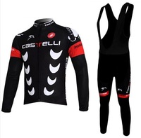 Foreign trade selling CASTELLI jersey long-sleeved Sets strap / spring and autumn riding clothes / outdoor cycling clothes
