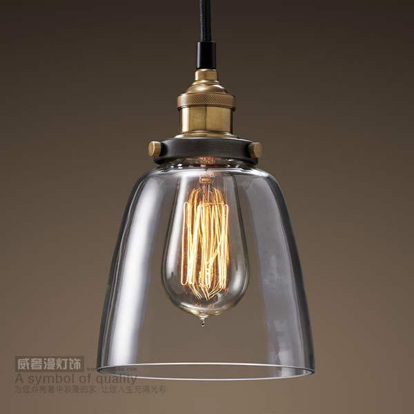 Vintage pendant light american style lamp pendant light dining room pendant light glass cover lamps d8173(China (Mainland))
