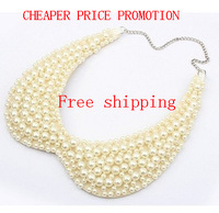 2014 fashion women New Arrival Charming imitation-pearl Fake Collar necklace choker jewelry