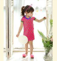 Hu sunshine 1pcs Retail  new 2015 girls kids dot dress bowknot dots dresses children clothes vestidos de menina