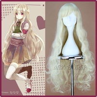 "90cm 35.5"" Kagerou Project Kozakura Marry Synthetic Extra Long Wavy Blonde Cosplay Anime Wig Free Wig net"