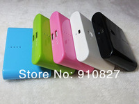 20000mah portable charger external battery charger power bank 5 colors + usb cable+ 4 adapters 3sets free shipping