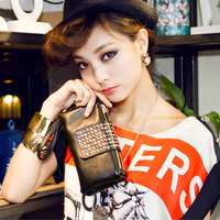 Stylish PU Leather Women Rivet Bag Clutch Bag Messenger Bag Evening Bag KZ027