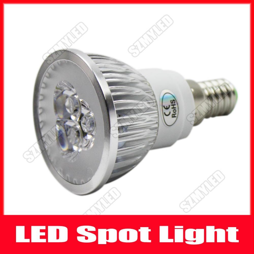 Free Fedex 20pcs/Lot Cool White/Warm White LED Spotlight Bulb Lamp E14 3W AC100-240V LED Light E14 Base Support Mix Order(China (Mainland))