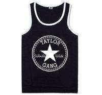 Taylor Gang tanks tops for man fashion hop hop sport vests mens cheap sleeveless tank top classic white black red grey singlet