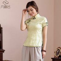 214 tang suit women's summer chinese style women's clothes vintage chinese style cheongsam top