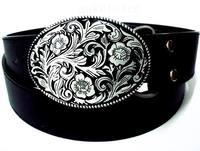 Belt female casual doodle personality belt skull hiphop punk buckle Women male strap