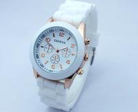 Gorgeous! Hot-selling Unisex Geneva Wristwatches Sport Fashion for Girls Boys Quartz Movement Silicone Band Free Shipping