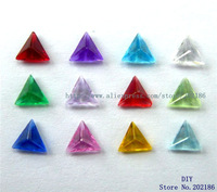 12pcs Mix Color Triangle Style 5mm Birth Stone Floating Charms Fit Floating charms lockets