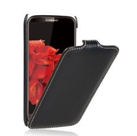 High Quality Genuine 100% Cowhide Flip Leather Case For Lenovo S820 Cover With Screen protector