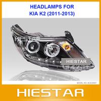 K2 Head lamps For Kia K2 Eye angle projector headlights complete HID kits 2011 12 13