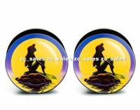 Wholesale 60pcs Mermaid ear plug acrylic screw fit ear plug flesh tunnel body piercing mix size 6mm-25mm A0167