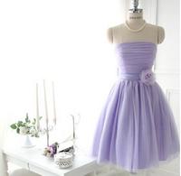 The New 2014  Fresh Dress of Bitter Fleabane Gauze dress violet free shipping