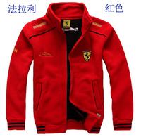 Sports racing Coat F1 fleece jackets for men and kids clothing thick velvet jacket cardigan sweater men winter jacket