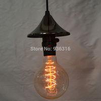 Black twisted cable Unique American Style Edison Pendant Light,Vintae Bird Cage Decoration Pendant Lamp/Lights E27/E26 110V/220V