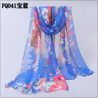 2014 spring and autumn female elegant silk long design silk scarf sweet women's scarf sunscreen