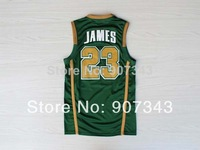St. Vincent St. Mary High School #23 Lebron James Jersey,Rev 30 Throwback Basketball Jersey,Embroidery Logo,Authentic Jersey