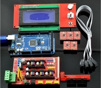 RAMPS 1.4 + Mega 2560 R3 + 5pcs A4988 stepstick + 2004 LCD For 3D Printer