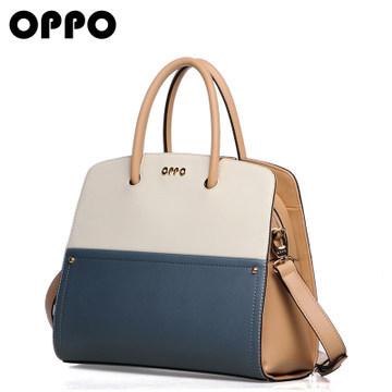Hong Kong OPPO female bag large bag European and American minimalist fashion handbag 2014 new hit color stitching 11076(China (Mainland))
