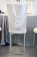 free shipping white spandex chair hood with separate spandex band