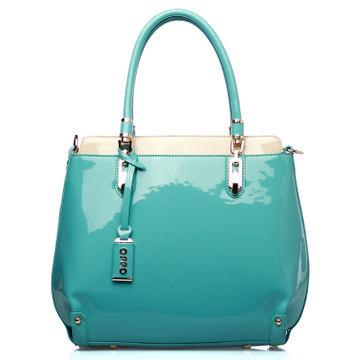 Hong Kong OPPO bag Korean fashion glossy candy colored handbags Shoulder Messenger 2014 new 9833-4(China (Mainland))