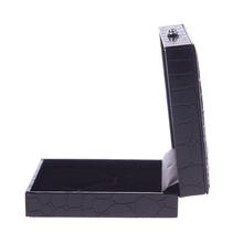 Leather Cufflinks Box Gift Jewelry Storage Case Organizer Display Cuff Box #02#54988
