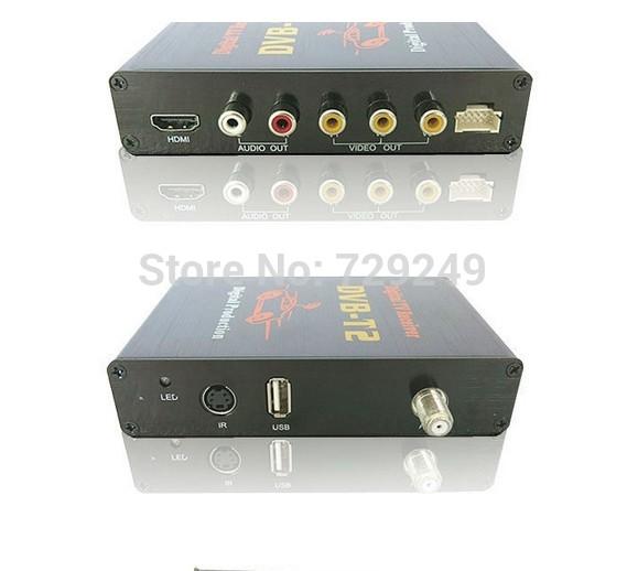 Free shipping top quality Mobile Digital Car DVB-T2 H.264 MPEG4 HD Tuner Digital TV Receiver Box set top DVB-T2(China (Mainland))