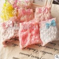 New Lace gauze sexy underwear,Lovely print flower women's panties,girl's briefs,underwear women,free shipping