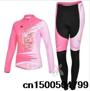 mulher 2014 cyclingbox rosa longo- mangas terno camisa ciclismo desgaste de ciclagem jersey calças modelos femininos(China (Mainland))