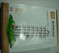 LOZ plastic Building blocks Model assembled suite Word Famous Architecture Leaning Tower of Pisa 560 PCS 9367 9+