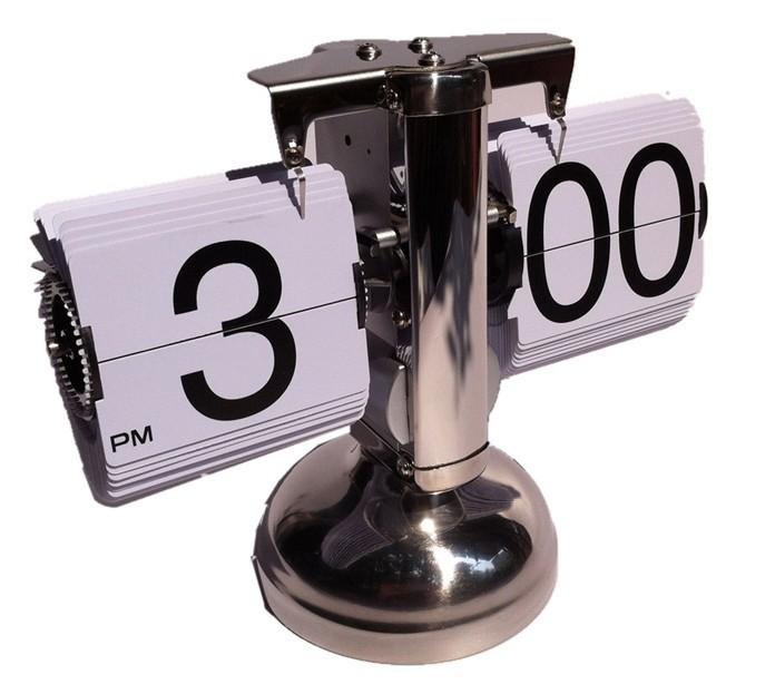 Best High Alarm clock turn page Wood Wooden Digitals Voice led Table Clocks Big number Digital Creative Balance designer(China (Mainland))