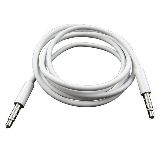 High Quality White 3.5mm To 3.5 mm Car Aux Audio Cable For iphone ipod ipad mp3 mp4 phone , free shipping(China (Mainland))
