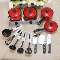 Free Shipping NEW 13 Set Kids Child Children pretend play Learn Kitchen toys cookware tool accessories pot pan educational toy