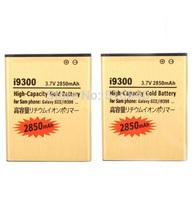 2PCS High Capacity 2850mah Gold Business Li-ion Golden Battery Batteria Batterie For Samsung Galaxy S3 SIII S 3 I9300 T999 L710