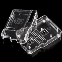 New Transparent Acrylic Raspberry Pi Case Enclosure Computer Box P0012863 Free Shipping Wholesale
